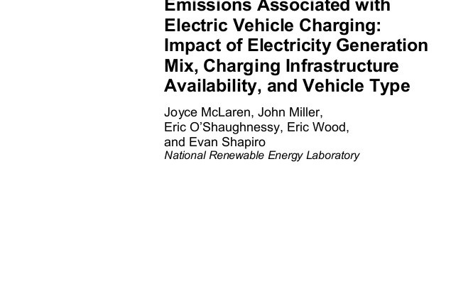 Electric Vehicles Emissions