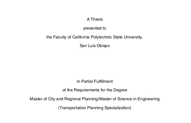 Master thesis Automated Vehicles